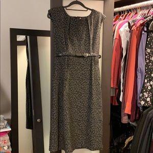 Calvin Klein grey animal print dress